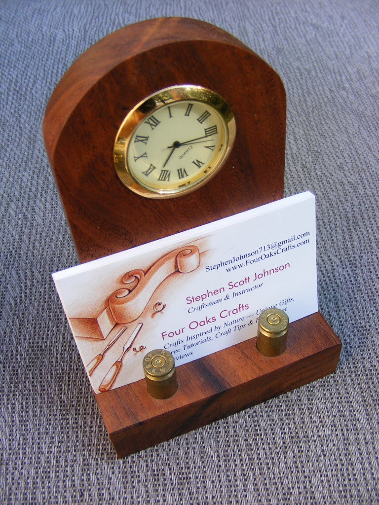 Wooden business card holder wooden business card holder how to make reheart Image collections