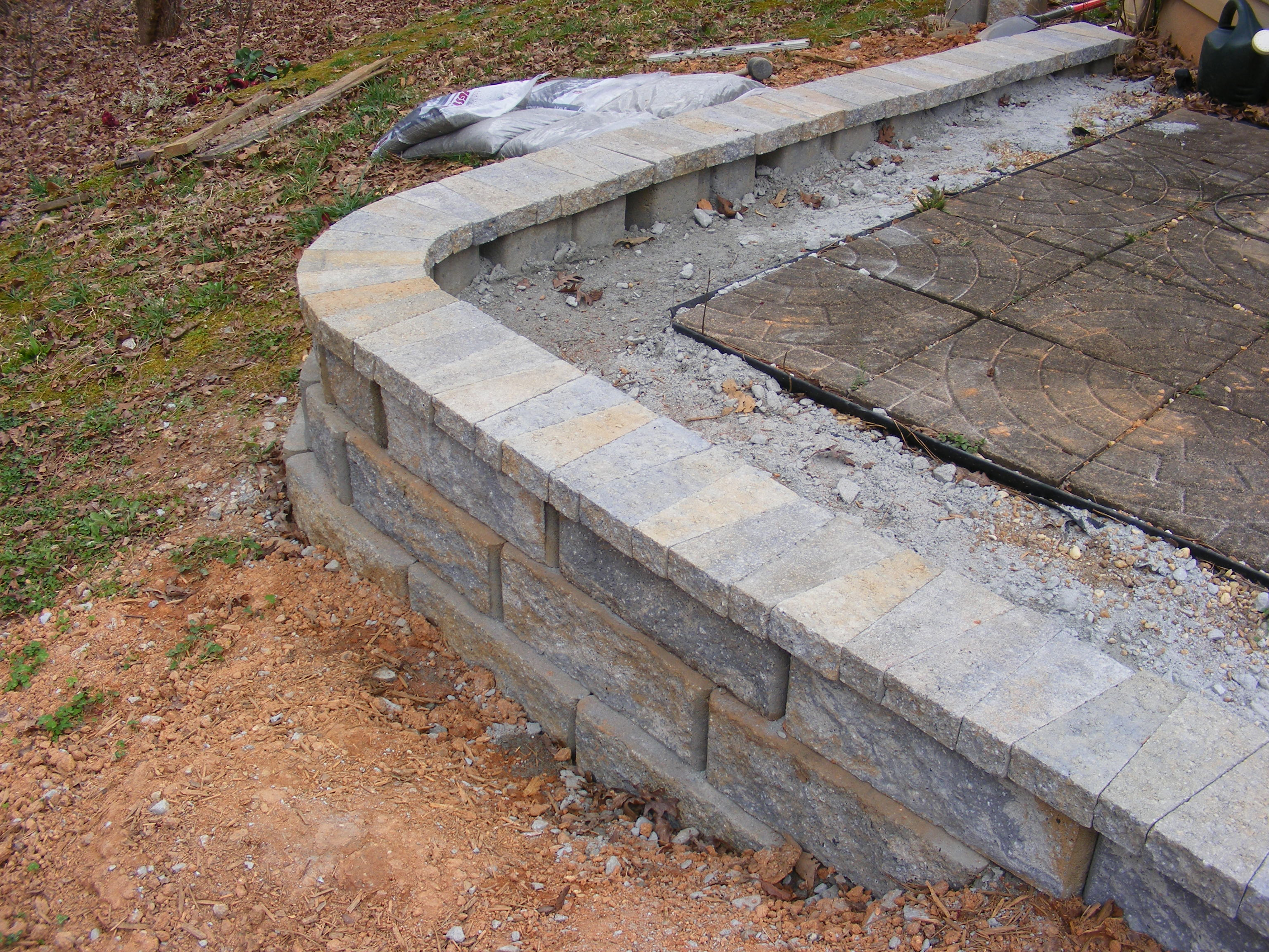 Concrete Fence Material : How to build a simple retaining wall