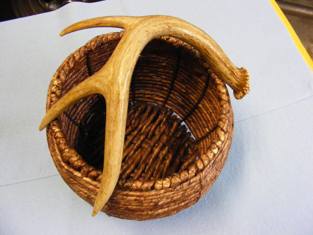 antler handle basket