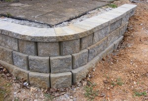simple retaining wall