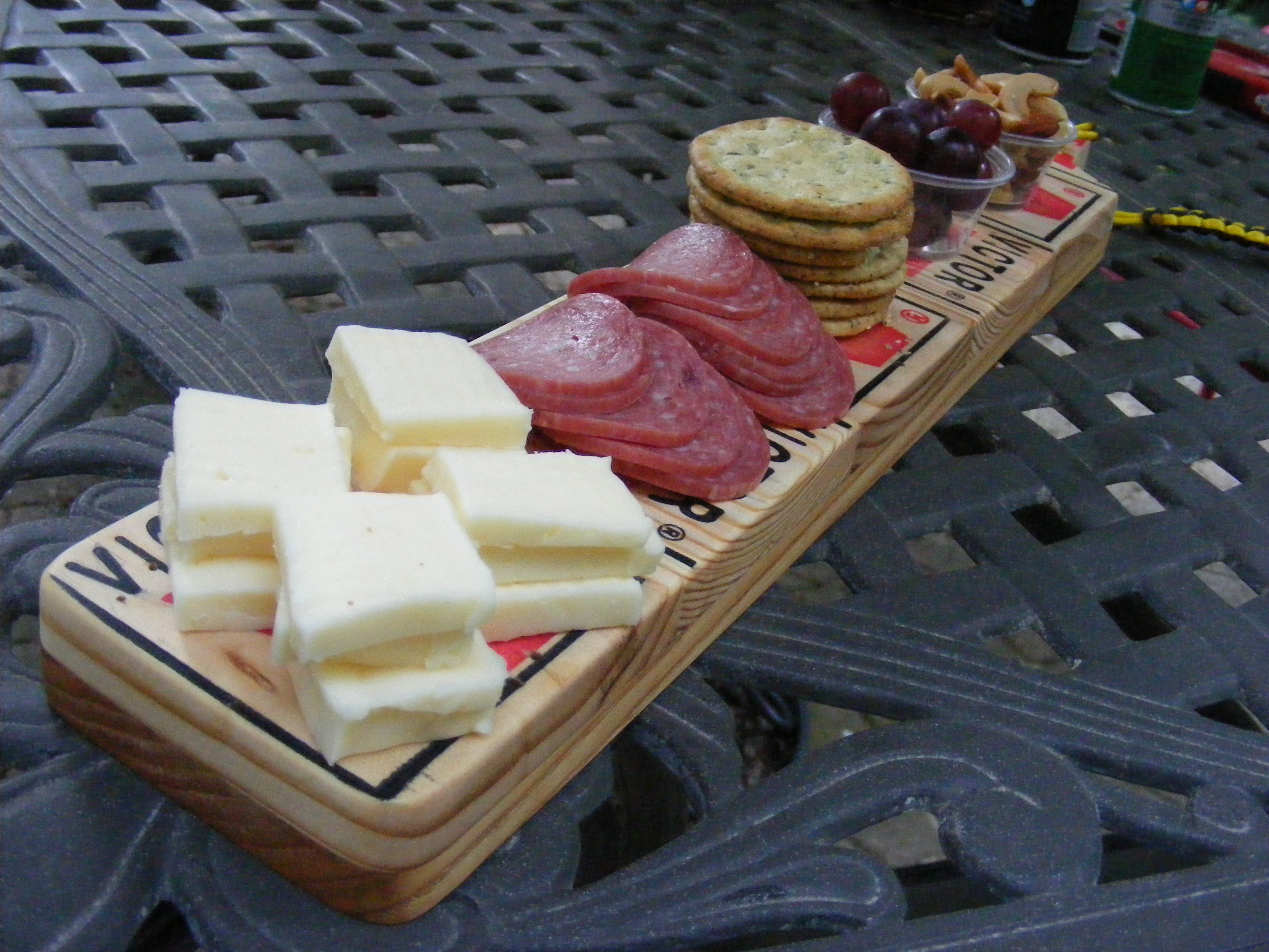 handmade cheese tray