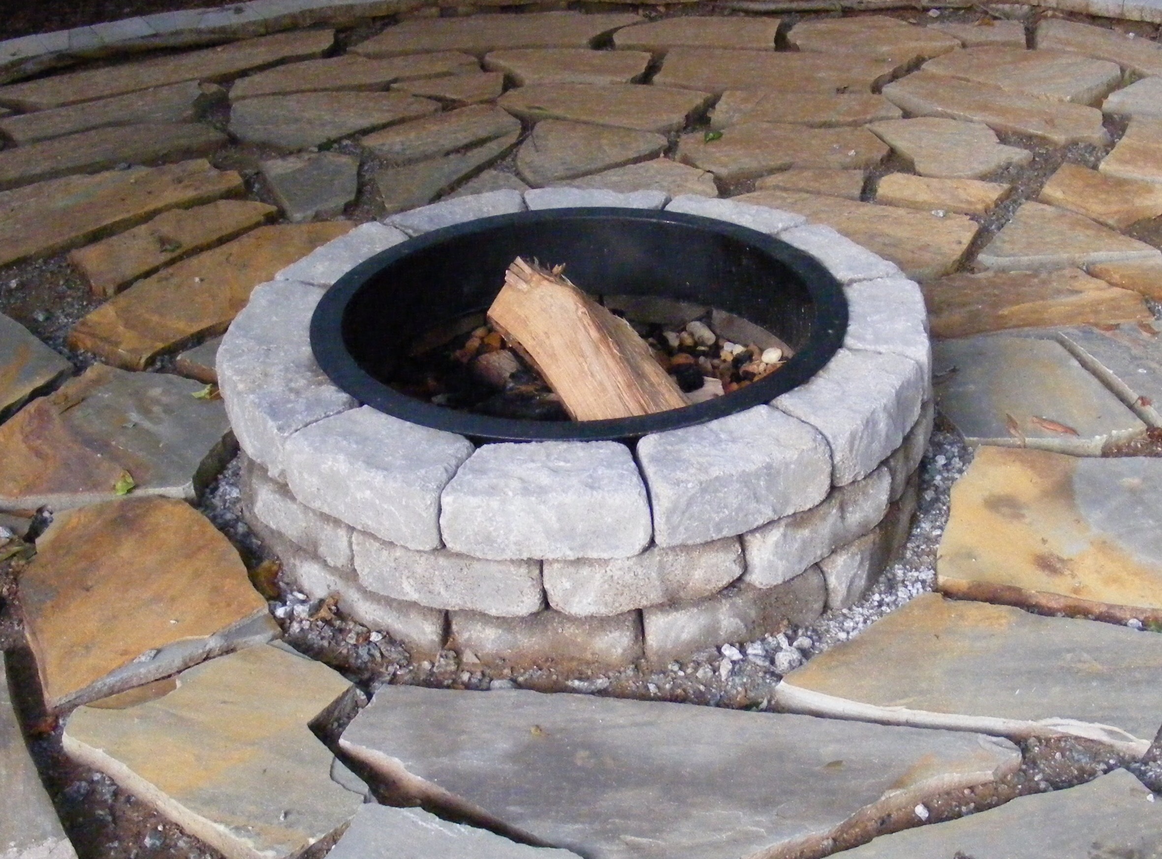 diy fire pit. Black Bedroom Furniture Sets. Home Design Ideas