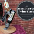 industrial pipe wine rack