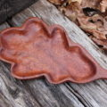 how to carve a wooden leaf tray